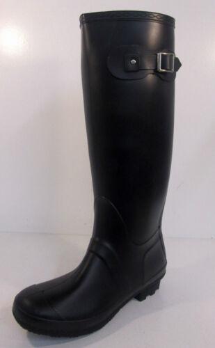X1166 Ladies Black Knee High Rubber Wellington Boots Great Price!