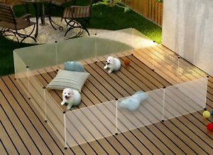 Large Transparent Dog Playpen Cage Puppy Pet Exercise Area