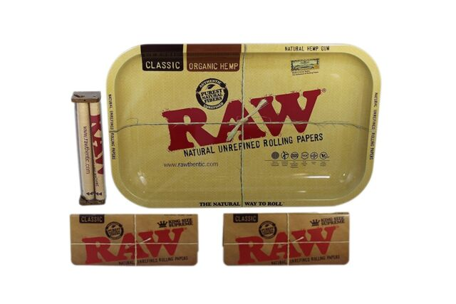 Raw Rolling Tray Small Bundle With 110mm Roller And King Size Supreme