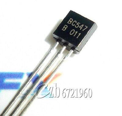 50Pcs BC547 TO-92 NPN 45V 0.1A Transistor