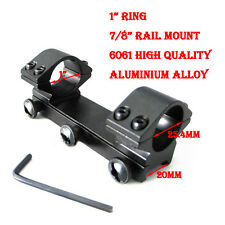 "Metal 1X 25.4mm 1"" Scope Ring Low Weaver 20mm Rail Mount For Airgun Rifle"
