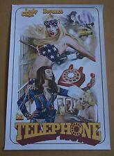 "LADY GAGA & BEYONCE Telephone 2010 promo only 16"" x 24"" print"