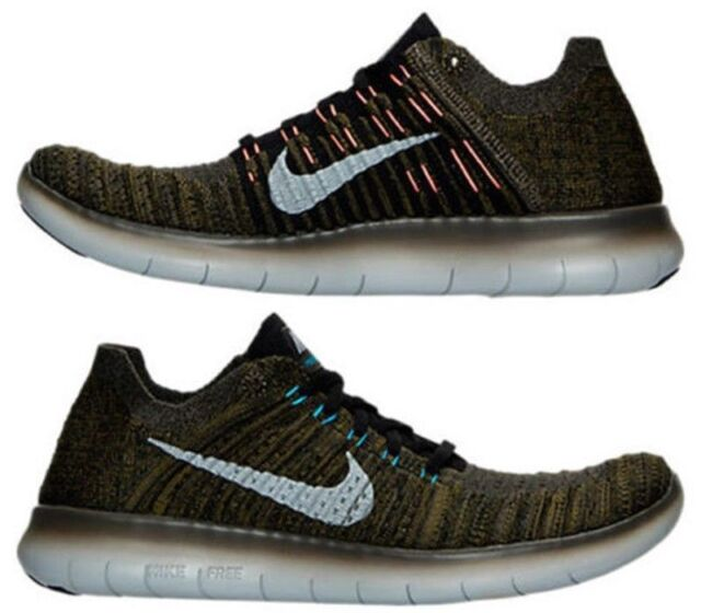 Nike Free RN Flyknit Men's Running Shoes | Black