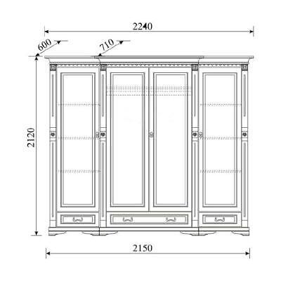 Armoires & Wardrobes Analytical Klassische Schränke Schrank Schrankwand Kleiderschrank Massiv Kolonial Stil O4d Home & Garden
