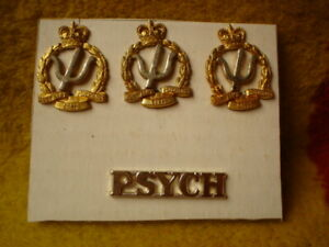 E-4-X-ROYAL-AUSTRALIAN-ARMY-METAL-BADGES-PSYCHOLOGY-CORPS