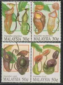 198-MALAYSIA-1996-PITCHER-PLANTS-SET-FRESH-MNH