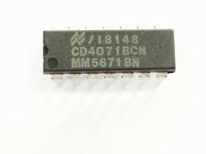 10pcs-CD4071BCN-MFR-NSC-IC-OR-Gate-4-Element-2-IN-CMOS-14P-DIP