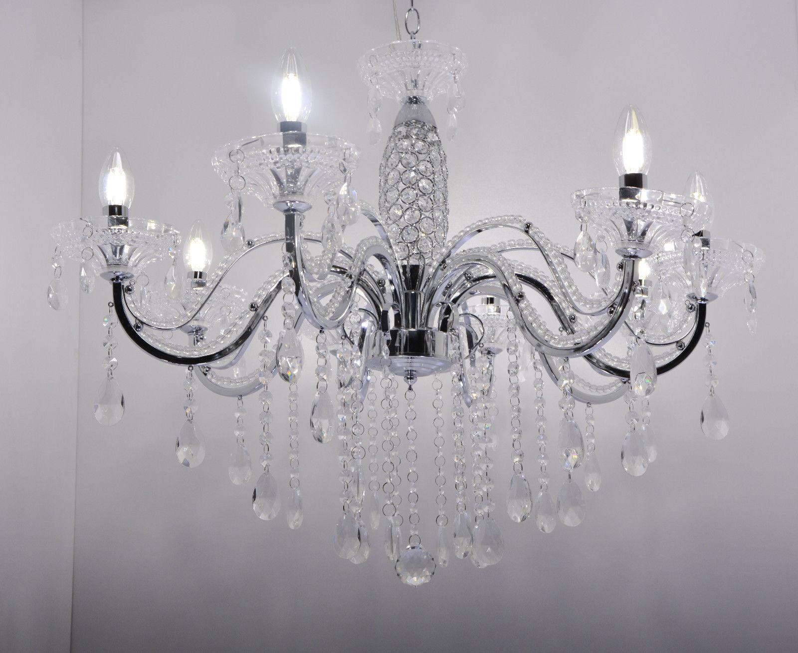 Luce pendente lampada sospesa plafoniera lampada lampadario Cristallo Lampada
