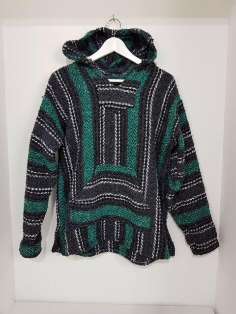Baja Joe Eco-Friendly Woven Striped Pullover Baja Hoodie