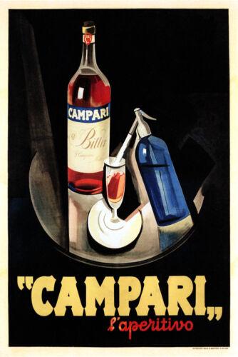 Campari Drink Aperitivo Fashion Restaurant Bar Italy Vintage Poster Repo FREE SH