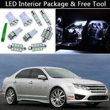 10PCS Bulbs White LED Interior Lights Package kit Fit 2006-2012 Ford Fusion J1