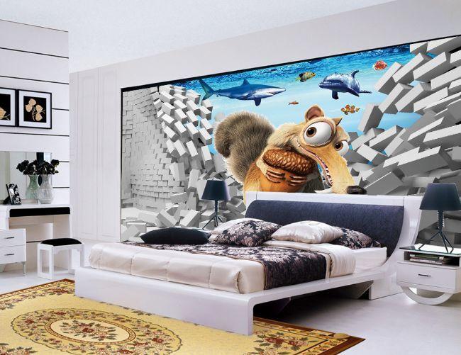 3D Kiefern, Delfine 546 Fototapeten Wandbild Fototapete BildTapete Familie