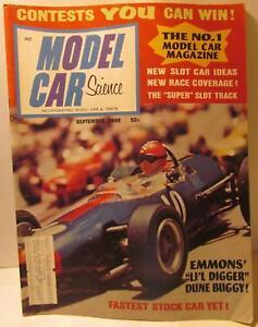 Details About Model Car Science Magazine September 1968 1 32 Grand National IMC Stocker