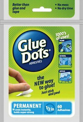 "Glue Dots Permanent 1⁄2/"" Sheet 60pc"