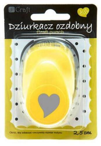 Motivlocher Stanzer Punch 2,5 cm Heart Herz - 5 Kreativ Basteln Ausschmücken