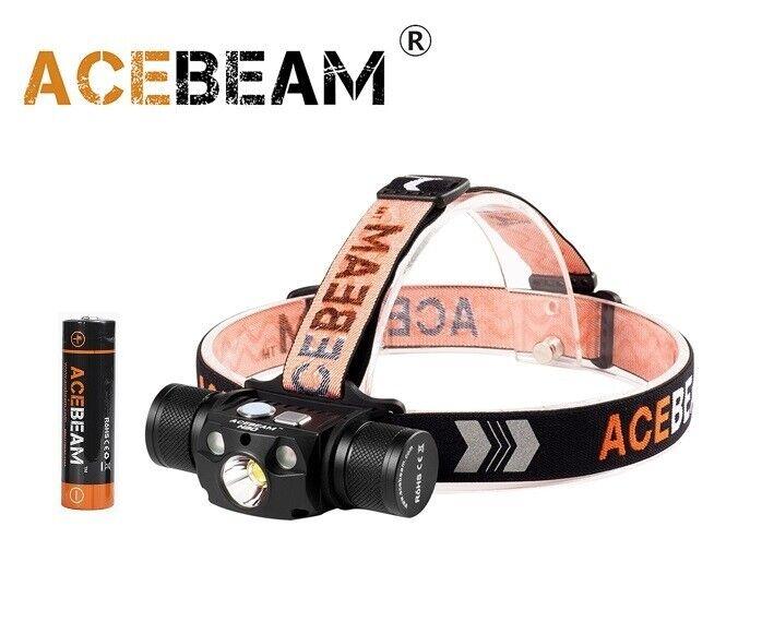 nuovo Acebeam H30 5000K  Rosso  UV CREE XHP70.2 4000 Luuomini LED HEADLIGHT