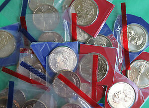 BU Satin Finish 2007 P/&D Sacagawea Dollars 2-Coin Set In Mint Plastic//Cello