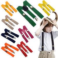 Fashion Clip-on Suspenders Elastic Adjustable Braces for Boy Girl Kids Toddler