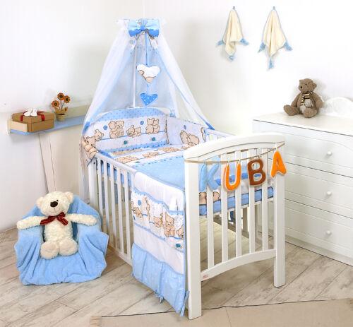 BABY GIRL BOY+MORE DESIGS 4 PC CUDDLED TEDDY BEAR NURSER BABY COT //COT BED SET