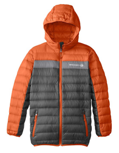 Free Country Little Boys/' Packable Down Jacket M 5//6 Charcoal//Orange