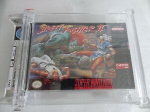 STREET FIGHTER 2 Super Nintendo SNES US-NTSC WATA 9.2 A+ / NEW SEALED !!