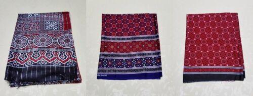 SINDHI Ajrak Traditional Pakistani cotton Shawl scarve wrap men and women