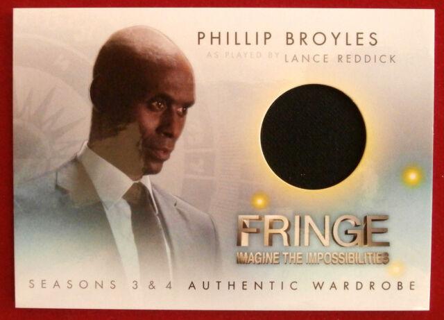 FRINGE - Seasons 3 & 4 - LANCE REDDICK'S JACKET - COSTUME / WARDROBE CARD
