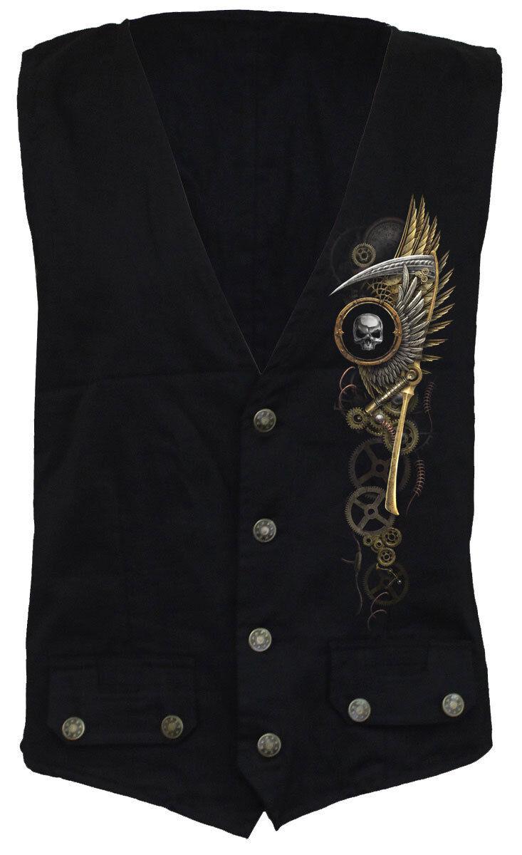 SPIRAL DIRECT STEAM PUNK REAPER Waistcoat Reaper/Skeletons/Schädel/Top/Tee/Skull