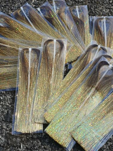 Flashabou holographic tinsel . Fly tying materials gliss /& glow alternative