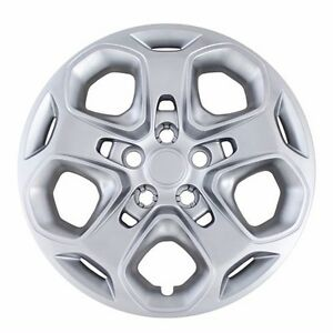 NEW-2010-2011-2012-Ford-FUSION-17-034-Bolt-on-Silver-Hubcap-Wheelcover-Replacement