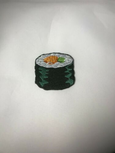 Custom Embroidered Sushi Roll Carrot Sew on Iron Patch
