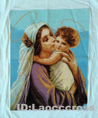 """Nuevo acabado completado cross stitch /""""Angel y madre/"""" Casa Pared Decoración Regalos"""