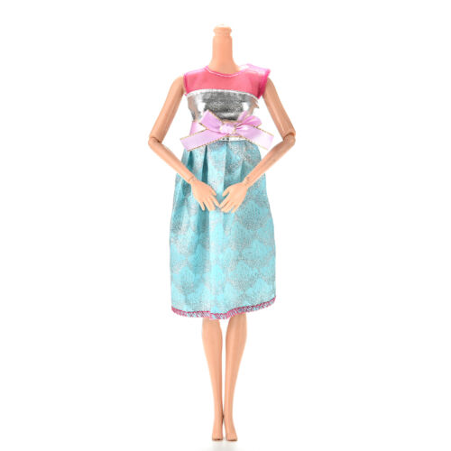 """1Pcs Lovely Vest Sling Sequin Sky Blue Dress for 11/""""  Doll  New SP"""