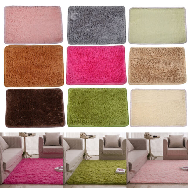 Anti-Skid Fluffy Rugs Shaggy Area Dining Room Home Bedroom Carpet Floor Mat