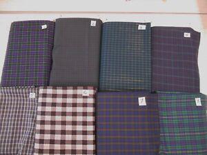 Tartan-plaid-poly-cotton-lgt-fabric-yarn-dyed-Tokai-finish-1-yd-x-44-034-w-FREE-SHIP