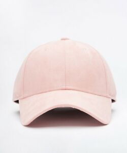 2f95e8a39 Details about Mens Condemned Nation Suede Baby Pink Cap (SAC31) RRP. £14.99