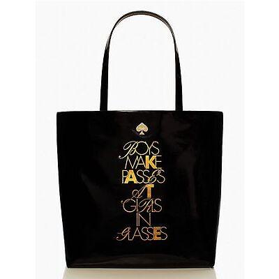 kate spade handbag - required reading bon shopper 'boys make passes' NWT-RP $228