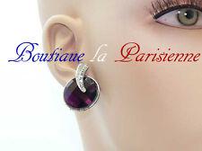 Ohrringe Vintage Kristall 1 Paar Ohrstecker Ohrschmuck Rund Strass Paris