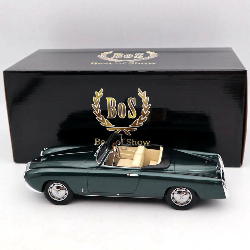BOS Models Lancia Aurelia PF200 Cabriolet By Pinrifarina 1953 Green BOS262 1 18