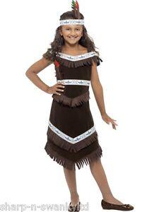 Nina Indio Americano Rojo Indio Carnaval Disfraz 4 12 Ebay - Disfraz-india-americana
