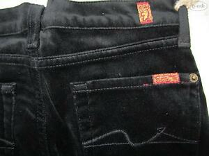7-For-All-Mankind-Bootcut-Jeans-Gr-140-US-10-NEU-Samt-Hose-USA-W-25-L-28