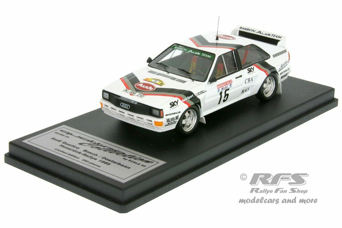 Audi Quattro a2-Hunsrück rally 1985-john bosch - 1 43 Trofeu Scala 43