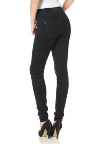 Arizona High Waist Slim Jeans K-Gr.17-22 NEU Damen Hose Schwarz Stretch Denim