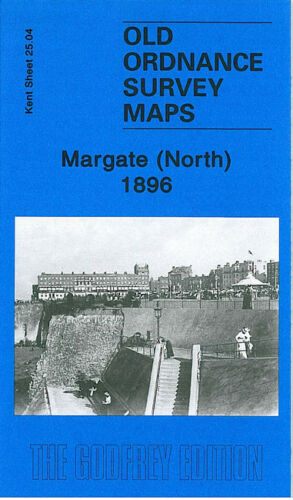 OLD ORDNANCE SURVEY MAP MARGATE NORTH 1896 FORT GREEN MARINE DRIVE CLIFTONVILLE
