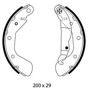 Mintex-Frein-Arriere-Chaussures-Set-MFR594-Brand-new-genuine-Garantie-5-an