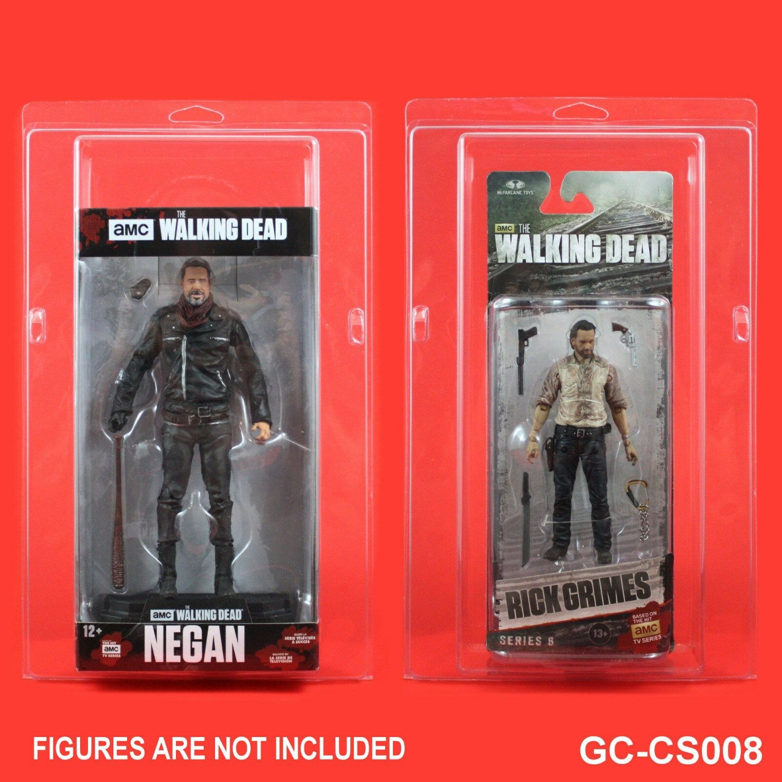 CLAMSHELL ACTION FIGURE PROTECTIVE CASES,AMC McFarlane THE WALKING DEAD GC-CS008
