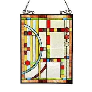Colorful Stained Glass Hanging Window Panel Home Decor Suncatcher 25