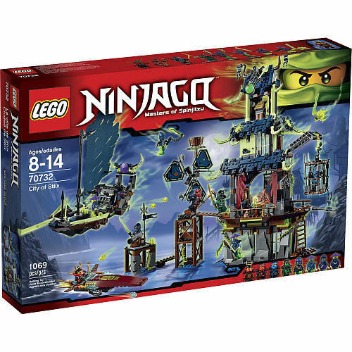 LEGO City of Stiix Ninjago Set 70732 w Temple, Ghost Ship, 8 Minifigures NEW