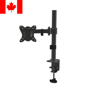 Single Arm Monitor Desk Table Mount Stand/For 1 LCD Fully Swivel Clamp upto 27""