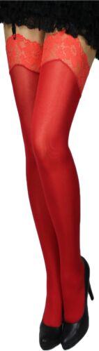 Straps Calze con punta a colori spessore 60 DEN Calze Reggicalze Nero Rosso Bianco